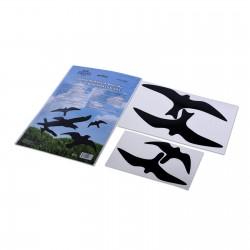 Lipdukas apsaugai nuo paukščių atsitrenkimo į langus - juodi (4 vnt.) (06212)